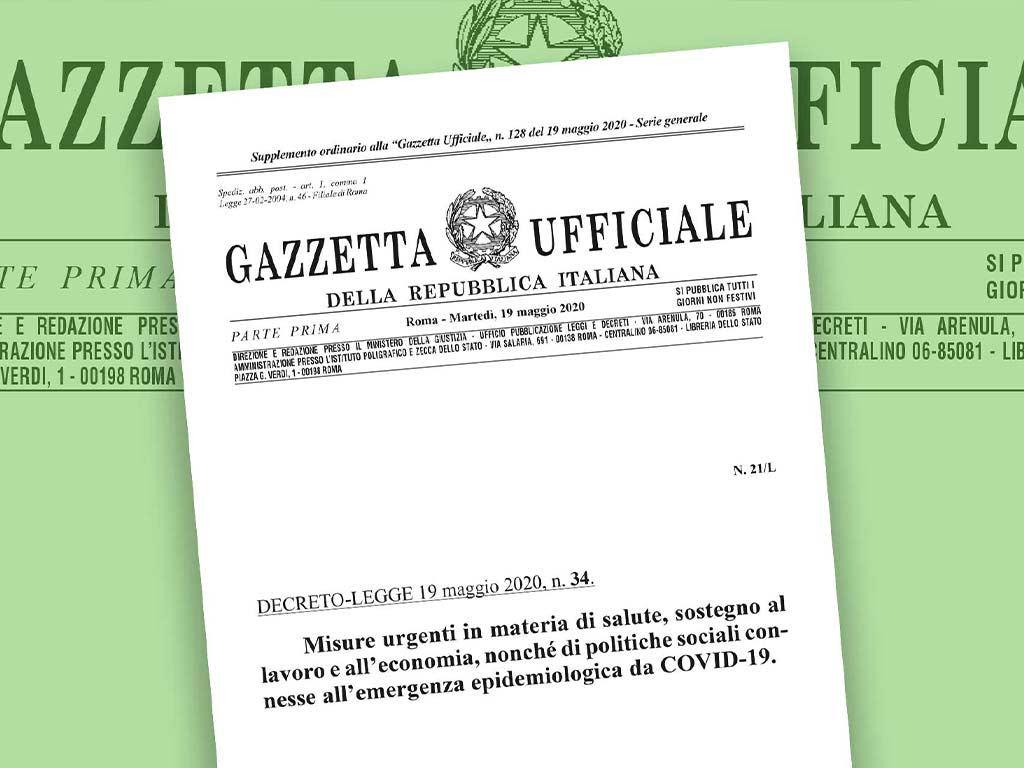 Pubblicazione Del Decreto Rilancio In Gazzetta Ufficiale
