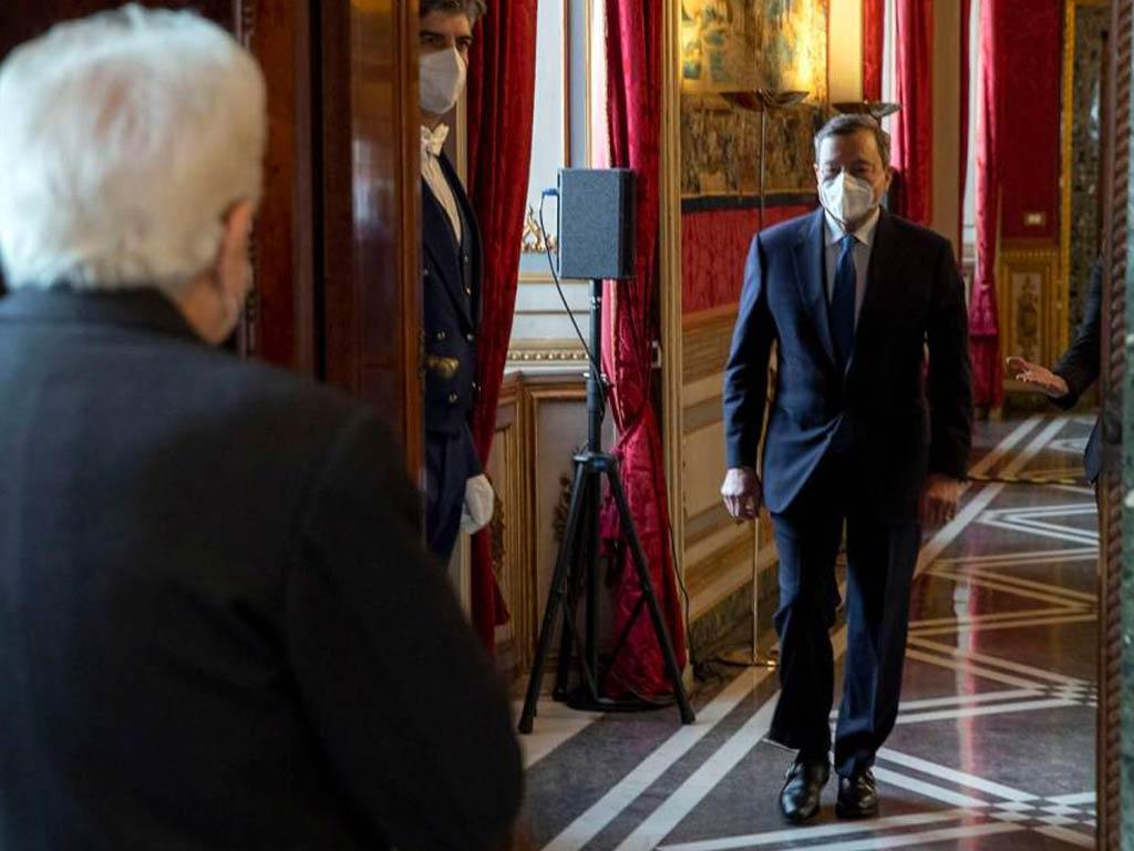 Mario Draghi nuovo premier italiano incaricato da Mattarella