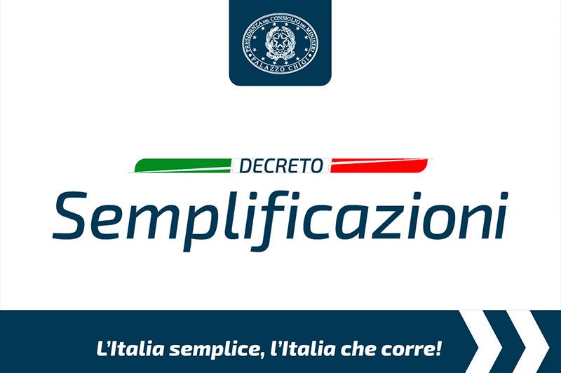 Approazione Decreto Semplificazioni In Italia